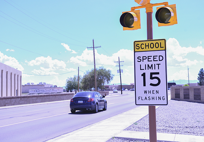 School zones in effect