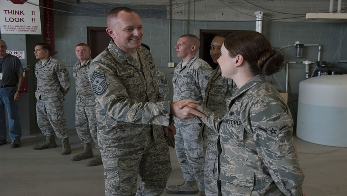 AFMC command chief visits Holloman