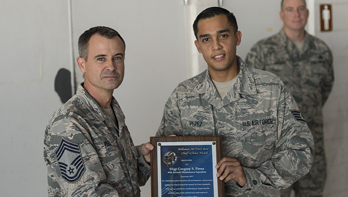 September Chief's Choice Award